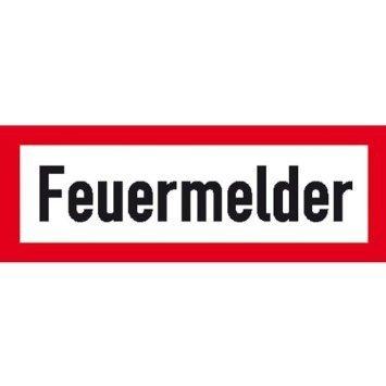 Hinweisschild für den Brandschutz Feuermelder - 29,70x10,50cm DE871