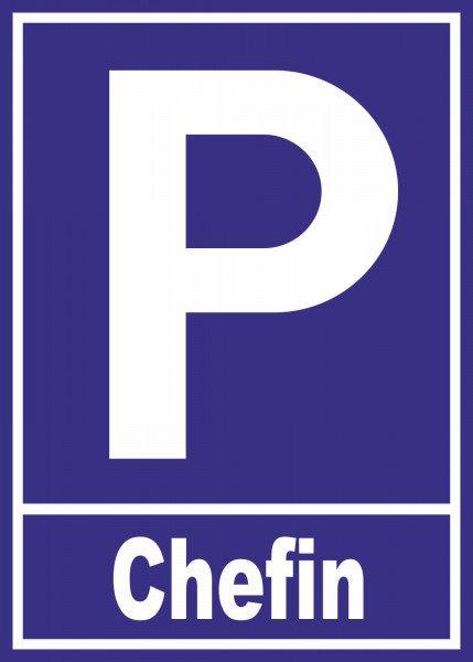 Parkplatzschild - Chefin - 21x15 cm