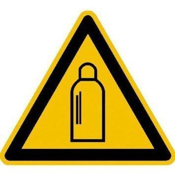 Warnung vor Gasflaschen Warnschild - 10cm DE776
