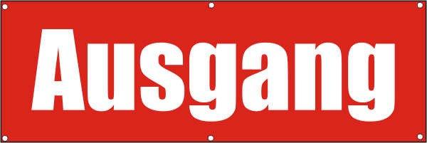 Werbeplane / Gerüstplane - p047 - Ausgang - NEU - für Baustelle, Garten, Zaun oder Veranstaltung