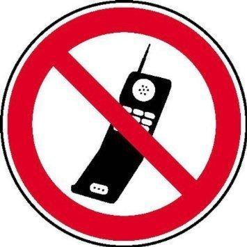 Handy benutzen verboten Verbotsschild - 10cm DE777