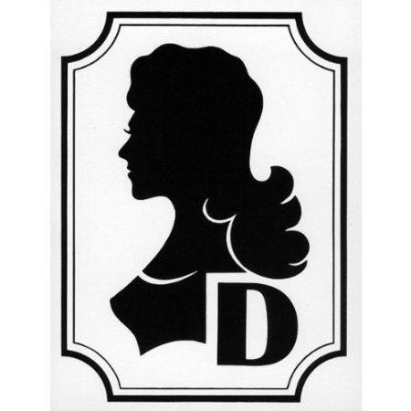 Damen Symbol zur Kennzeichnung von Toiletten - 12x16cm DE368
