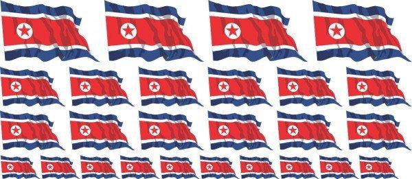 Mini Aufkleber Set - Nordkorea