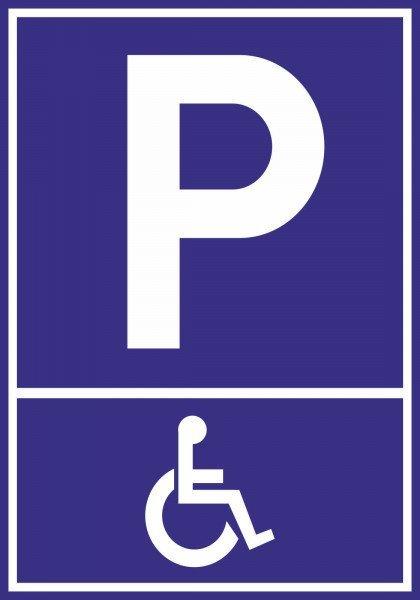 Parkplatzschild - Behindertenparkplatz - 30x21 cm