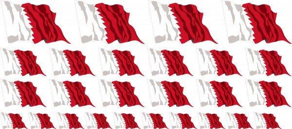 Mini Fahnen / Flaggen - Bahrain