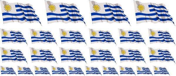 Mini Aufkleber Set - Uruguay