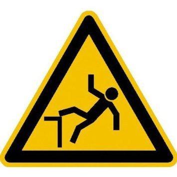 Warnung vor Absturzgefahr - 40cm DE889