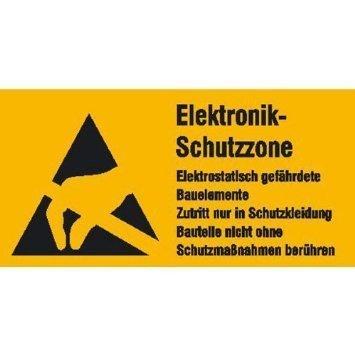 Elektrostatisch gefährdete Bauelemente - 30x15cm DE1036