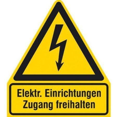 Elektrische Einrichtungen Zugang freihalten - 21x24, 50cm DE333