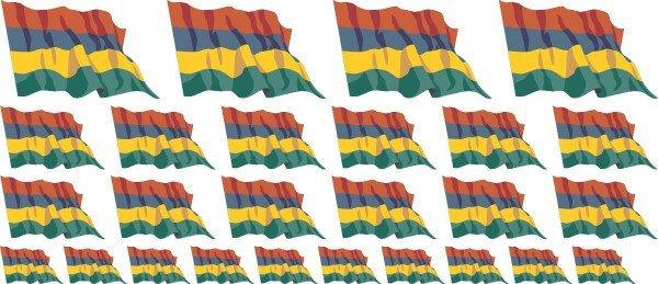 Mini Aufkleber Set - Mauritius