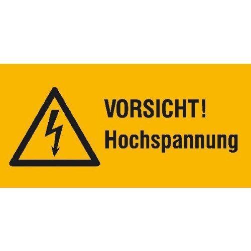 Vorsicht Hochspannung - 10,50x5,20cm DE118