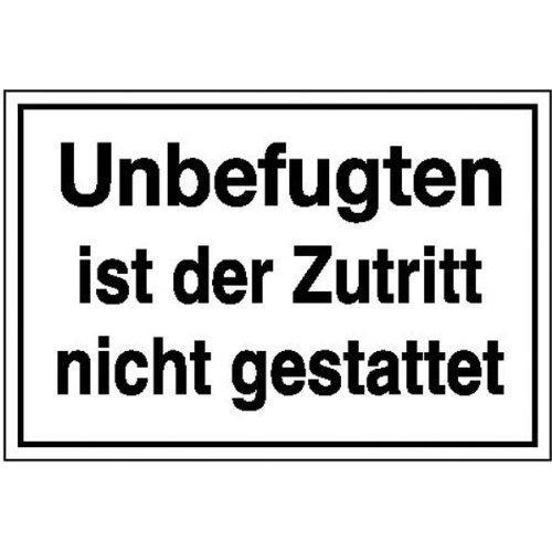 Unbefugten ist der Zutritt nicht gestattet - 300x200cm DE156