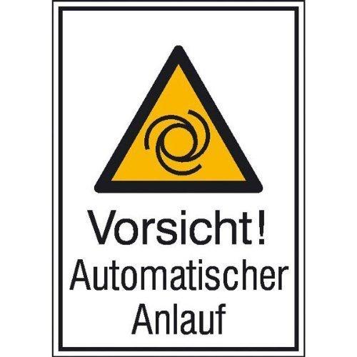Vorsicht! Automatischer Anlauf - 13,10x18,50cm DE209