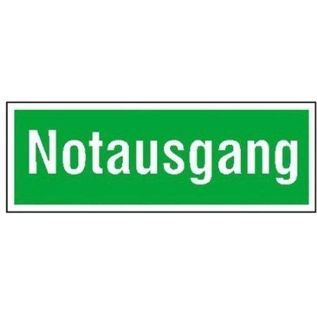 Notausgang Rettungs-Zusatzschild - 40x14cm DE718