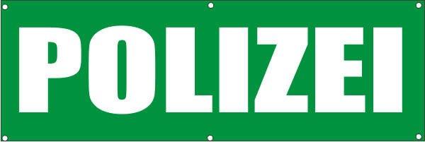 Werbeplane / Gerüstplane - p112 - Polizei - NEU - für Baustelle, Garten, Zaun oder Veranstaltung