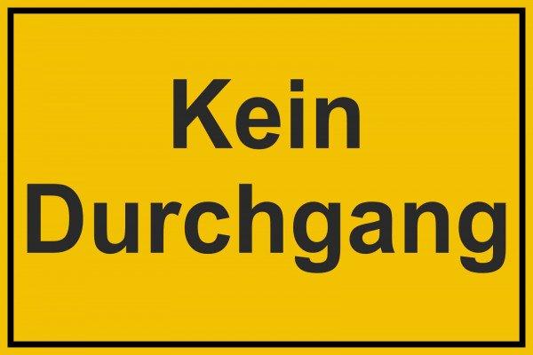 Kein Durchgang Hinweisschild zur Grundbesitzkennzeichnung, 30x20 cm