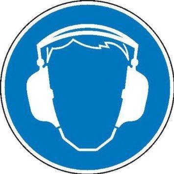 Gehörschutz benutzen Gebotsschild - 10cm DE781