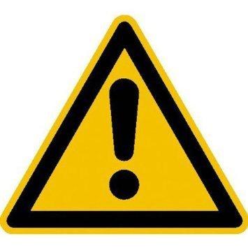 Warnung vor einer Gefahrstelle Warnschild, - 31,50cm DE834