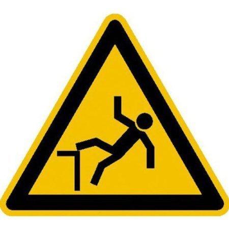 Warnung vor Absturzgefahr Warnschild - 20cm DE621