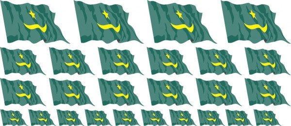 Mini Aufkleber Set - Mauretanien