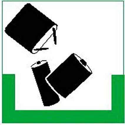 Batterien Symbolschild - 10x10cm