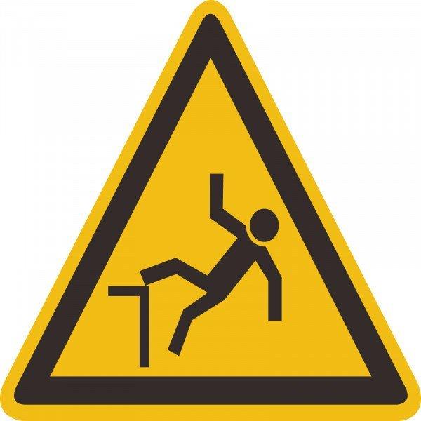 Warnung vor Absturzgefahr Warnschild, 40cm
