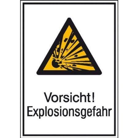 Vorsicht! Explosionsgefahr - 13,10x18,50cm DE440