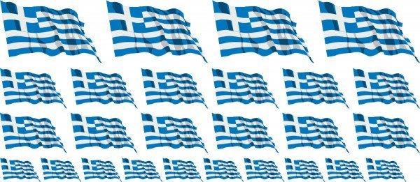Mini Aufkleber Set - Fahne - Griechenland