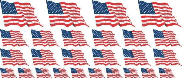 Mini Aufkleber Set - USA - United States