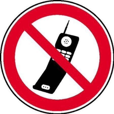 Handy benutzen verboten Verbotsschild, Büro Sicherheit - 20cm DE406