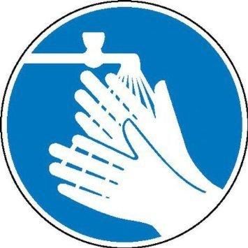 Hände waschen Gebotsschild - 20cm DE848