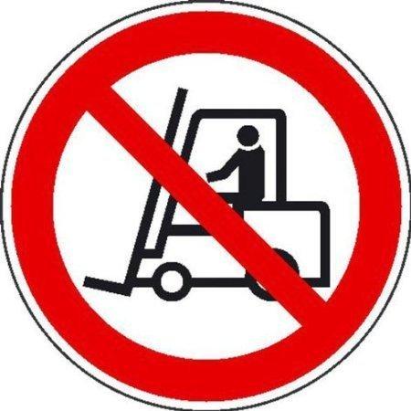 Für Flurförderzeuge verboten Verbotsschild - 20cm DE431