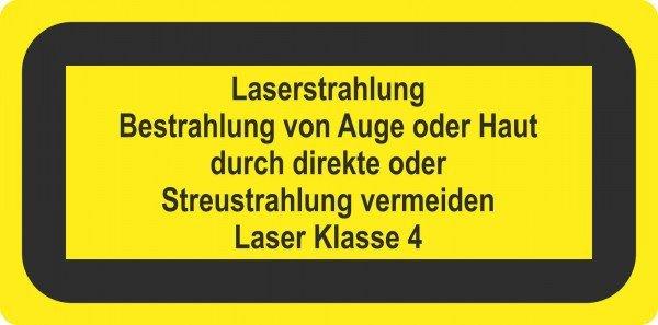 Laserstrahl. Bestrahlung von Auge oder Laserkennzeichnung, 10,50x5,20cm