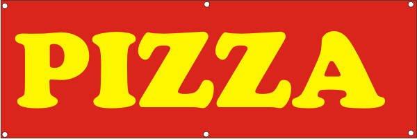 Werbeplane / Gerüstplane - p147 - Pizza - NEU - für Baustelle, Garten, Zaun oder Veranstaltung