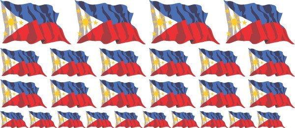 Mini Aufkleber Set - Philippinen