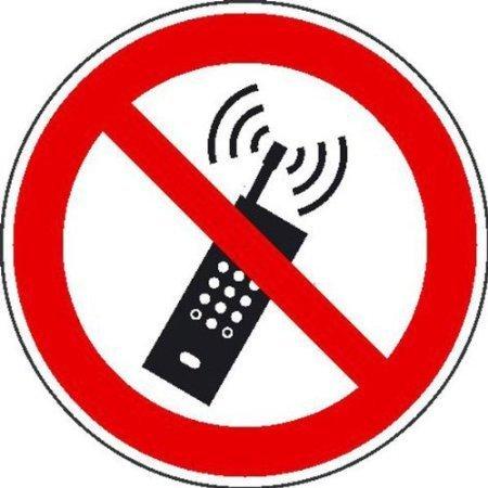 Mobilfunk verboten Verbotsschild, Büro Sicherheit - 31,50cm DE459