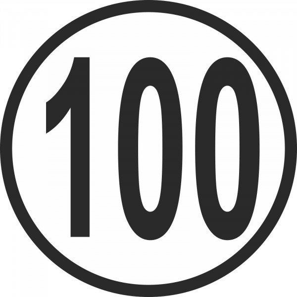 Geschwindigkeitsschild für Kfz z. Angabe km/h in verschiedenen Vers, 20cm