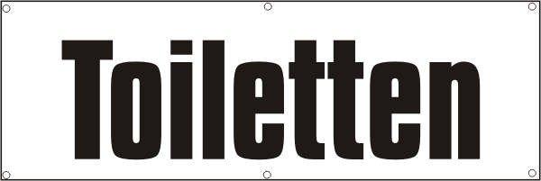 Werbeplane / Gerüstplane - p054 - Toiletten - NEU - für Baustelle, Garten, Zaun oder Veranstaltung