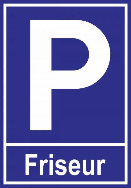 Parkplatzschild - Friseur - 30x21 cm