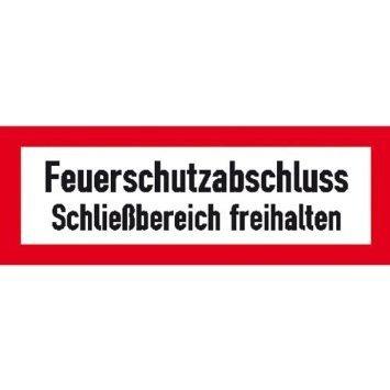 Hinweisschild für den Brandschutz - 29,70x10,50cm DE976