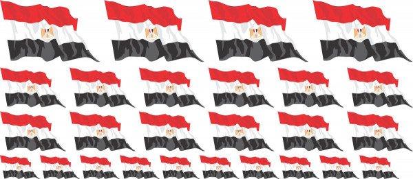 Mini Aufkleber Set - Fahne - Ägypten