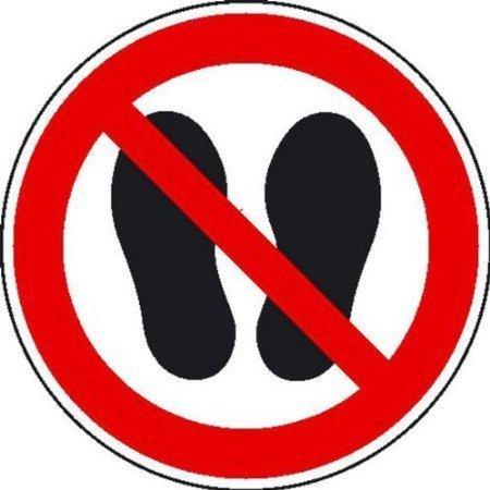 Betreten der Fläche verboten Verbotsschild, Büro Sicherheit 10cm DE408