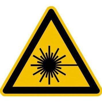 Warnung vor Laserstrahl Warnschild - 20cm DE762