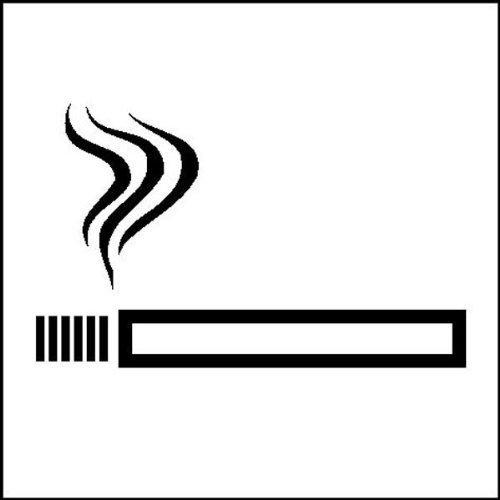 Rauchen - 7x7cm DE210