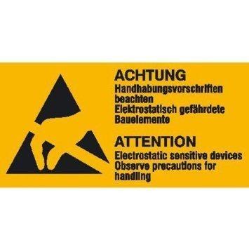 Elektrostatisch gefährliche Bauelemente - 10,50x5,20cm DE966