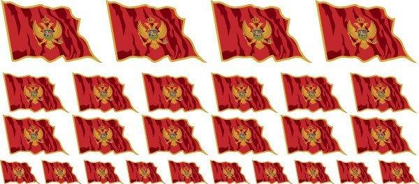 Mini Aufkleber Set - Montenegro
